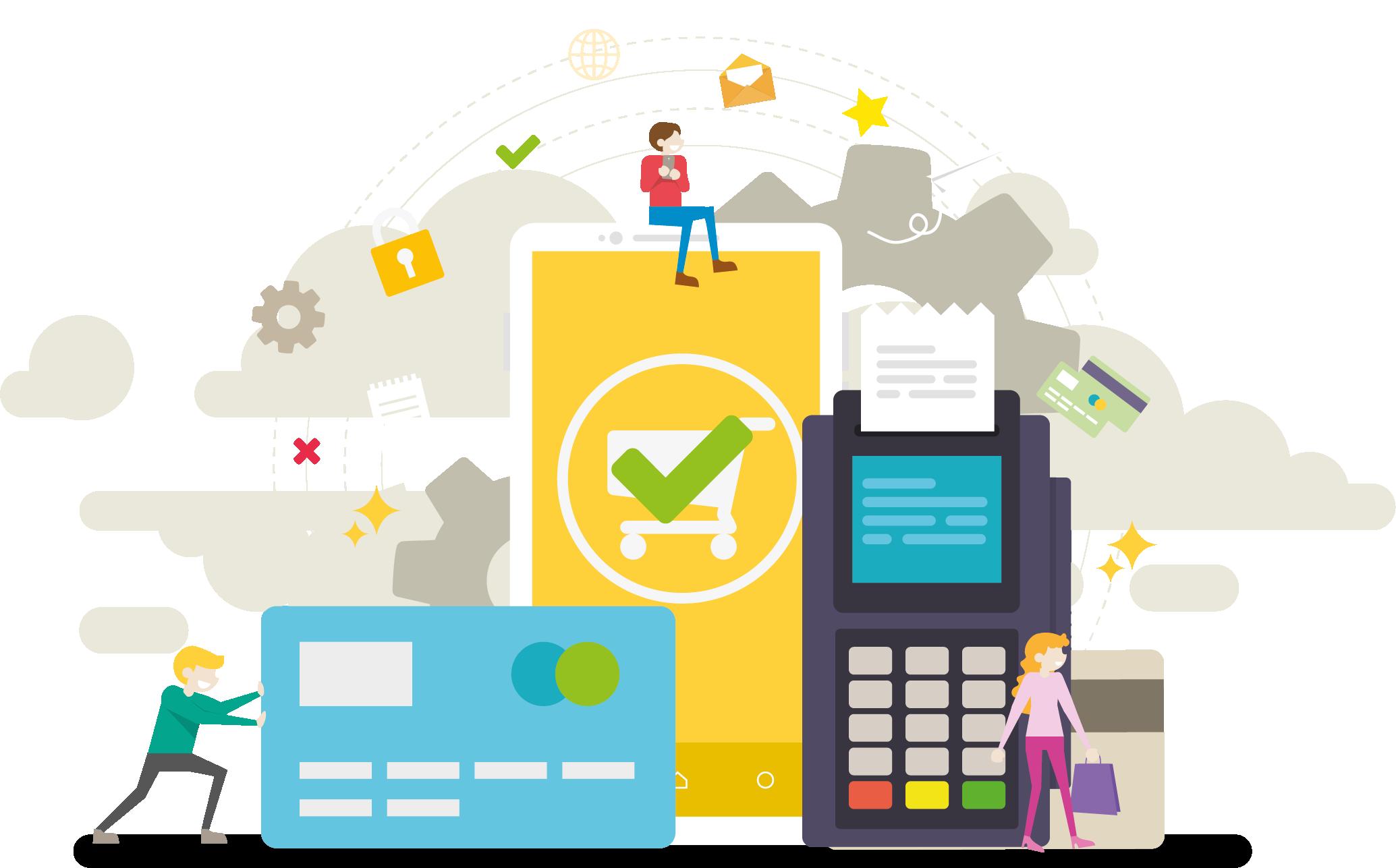 Ecommerce Solutions illustration