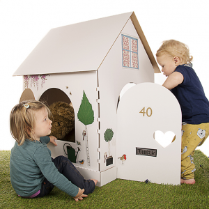 The Binky Box Cardboard Playhouse